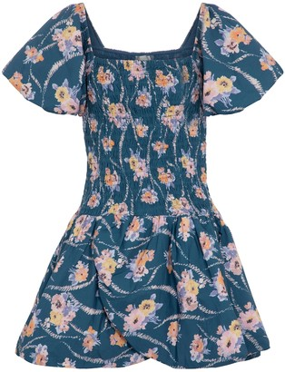 LoveShackFancy Asa floral cotton minidress