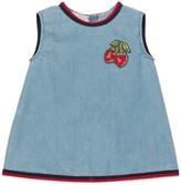 Gucci Baby denim dress with strawberries
