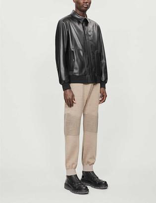 Ermenegildo Zegna Classic leather bomber jacket