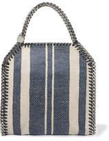 Stella McCartney Falabella Striped Canvas Shoulder Bag - Blue