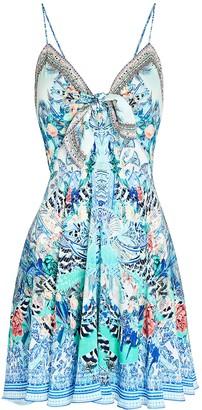 Camilla Printed Silk Mini Dress