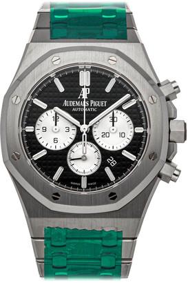 Audemars Piguet Black Stainless Steel Royal Oak Chronograph 26331St. Oo.1220St.02 Men's Wristwatch 41 MM