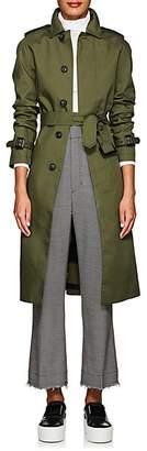VIS Ā VIS Women's Belted Trench Coat - Olive
