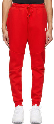 Nike Red Sportswear Tech Fleece Jogger Sweatpants