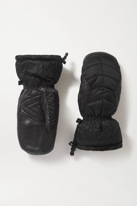 Bogner Selia Padded Leather And Shell Ski Mittens - Black