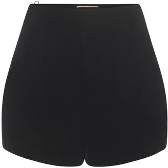 Saint Laurent High Waist Velvet Mini Shorts
