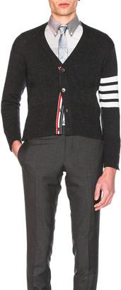 Thom Browne Classic Cashmere Cardigan in Dark Grey | FWRD