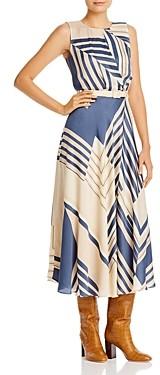 Lafayette 148 New York Amalia Belted Midi Dress