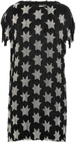 Saint Laurent Beaded silk-crepe mini dress