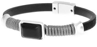 Joy Susan Women's Bracelets - Black & Silvertone Wire-Wrap Bracelet