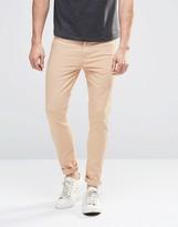 Asos Super Skinny Jeans In Light Pink