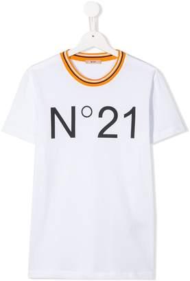 No.21 Kids TEEN logo print T-shirt