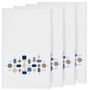 Linum Home Khloe 4-Pc. Embroidered Turkish Cotton Bath Towel Set Bedding