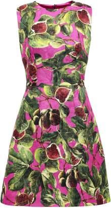 Dolce & Gabbana Printed Cotton And Silk-blend Jacquard Mini Dress