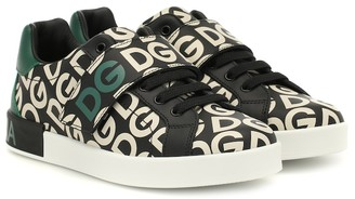 Dolce & Gabbana Kids Portofino printed leather sneakers