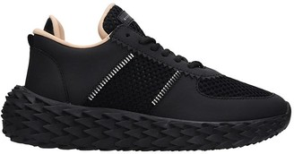 Giuseppe Zanotti Urchin Sneakers In Black Tech/synthetic