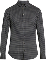 Giorgio Armani Micro-diamond print cotton-jersey shirt