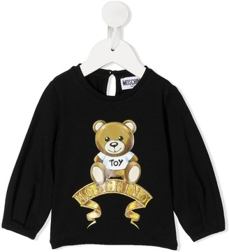 MOSCHINO BAMBINO Teddy print long-sleeve T-shirt