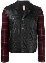 Antonio Marras embroidered sleeve biker jacket