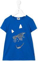 Karl Lagerfeld cat print T-shirt - kids - Cotton/Spandex/Elastane - 2 yrs