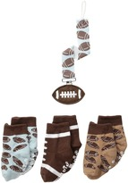 Mud Pie Football Sock & Pacy Clip Set (Infant)