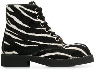 Marni Zebra Pattern Boots