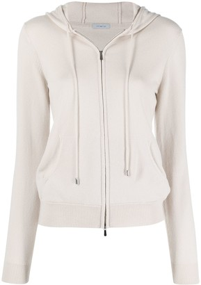Malo Cashmere Hooded Zip Cardigan