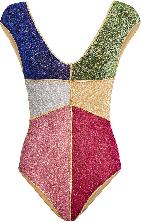 Oseree Lumiere One-Piece Lurex Swimsuit