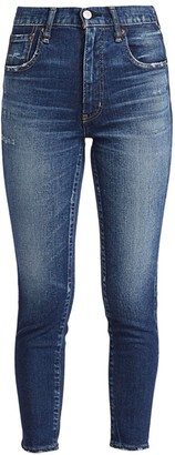 Moussy Frankfort High-Rise Skinny Ankle Jeans