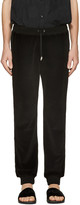 Versace Black Velour Lounge Pants