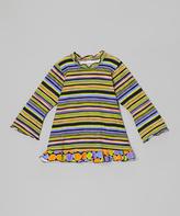 Flap Happy Black Wizard Stripe Ruffle Tunic - Infant, Toddler & Girls