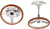 Deakin & Francis Men's Steering Wheel Cufflinks-DARK BROWN