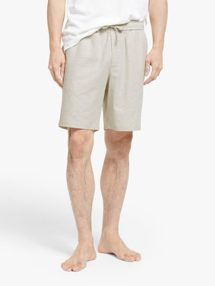 John Lewis & Partners Linen Cotton Lounge Shorts, Natural