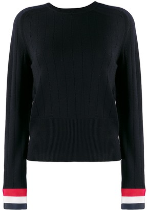 Thom Browne Pointelle-Stitch Crew-Neck Jumper