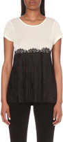 Claudie Pierlot Contrast jersey and lace top