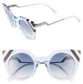 Fendi Women's 47Mm Cat Eye Sunglasses - Azure