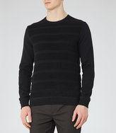 Reiss Dale Textured Crew-Neck Jumper