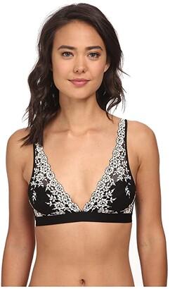 Wacoal Embrace Lace Soft Cup Wireless Bra (Black) Women's Bra