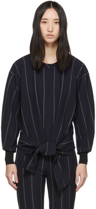 3.1 Phillip Lim Navy Striped Belt Pullover