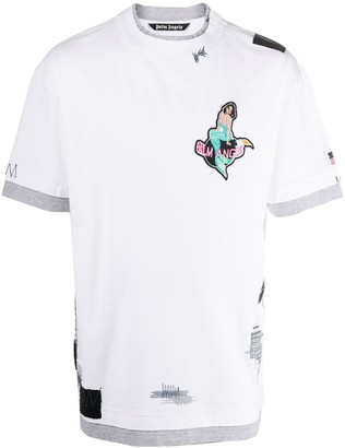 Palm Angels mermaid patch layered T-shirt