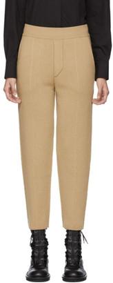 Haider Ackermann Tan Knitted Trousers