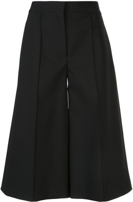 Adam Lippes Wide-Leg Cropped Tailored Rousers