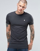 Asos Longline Muscle T-Shirt With Logo In Gray