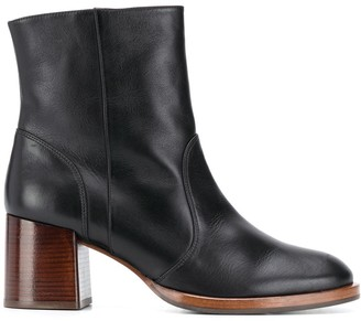 Chie Mihara Round Toe Ankle Boots