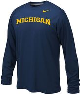 Nike Boys 8-20 Michigan Wolverines Legend Wordmark Dri-FIT Long-Sleeve Tee