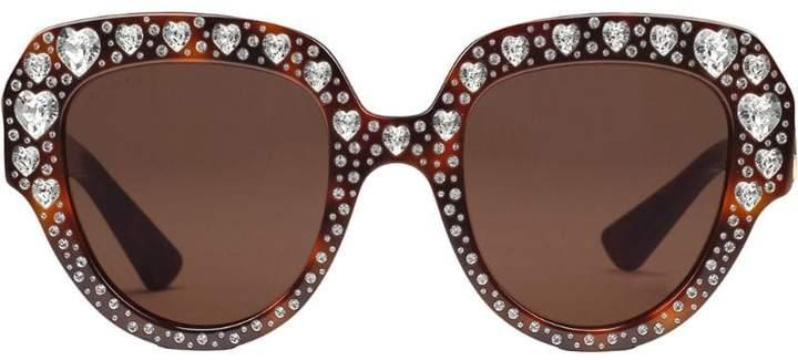 1aa635cb8889 Gucci Crystal Sunglasses - ShopStyle