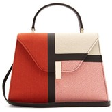 Valextra Iside Medium Colour-block Bag - Womens - Pink Multi