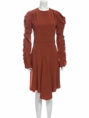 Chloé Crew Neck Knee-Length Dress w/ Tags Orange