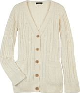 Coton cable-knit cardigan