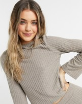 Thumbnail for your product : Pimkie ribbed top in beige (co-ord)
